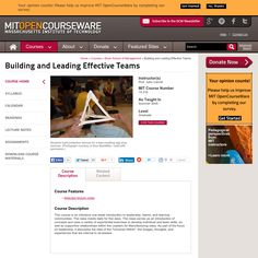 Building and Leading Effective Teams, Summer 2005