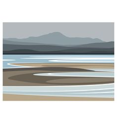 13 Jan 2020 - The view across the Solway Firth towards the Lake District. Digital Print (Archival) Size x Edition 250 Post & Packing Abstract Landscape, Landscape Paintings, Sea Paintings, Portrait Paintings, Landscape Prints, Acrylic Paintings, Painting Abstract, Art Pictures, Art Images