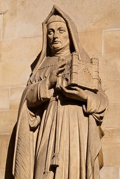 Lady Margaret Beaufort, mother of Henry VII, in statuary.