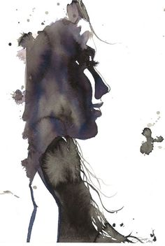 Every Distance is not Near, print from original watercolor fashion illustration by Jessica Durrant via Etsy