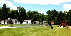 Enjoy yourself at our tennis court, basketball court, playground, volleyball, horseshoe pits, shuffleboard, and lovely nature trail.