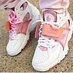 shoes nike high top sneakers urban urban pastel pink pink white pink and white shorts sneakers nike shoes huarache pink sneakers nike sneakers nike air huaraches High Top Sneakers, Shoes Sneakers, Shoes Heels, Pumps, Pink Shoes, Black Shoes, Jordans Retro, Cute Shoes, Me Too Shoes