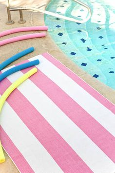 Yacht Stripe Pink White  I am loving pink with yellow which is a combination that just makes me happy