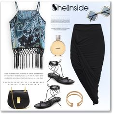 SHEINSIDE 1 by monmondefou on Polyvore featuring moda, Michael Kors, Chloé, Chanel and Kerr®