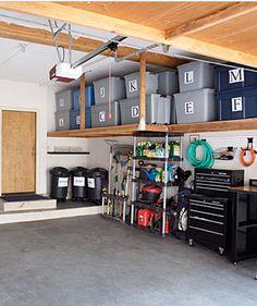garage loft on high section of garage overhead garage storage