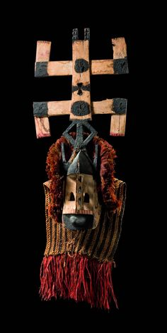 "Africa | Mask ""kanaga"" from the Dogon people of Mali 