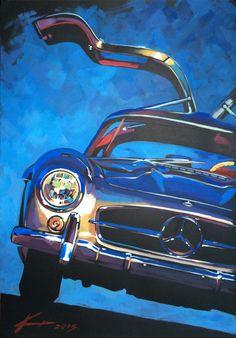 Mercedes-Benz 300 SL Gullwing on Behance