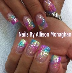 Here are some hot nail art designs that you will definitely love and you can make your own. You'll be in love with your nails on a daily basis. Colorful Nail Designs, Toe Nail Designs, Acrylic Nail Designs, Acrylic Nails, Glitter Toe Nails, Great Nails, Fabulous Nails, Gorgeous Nails, Easter Nails
