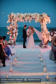 banyan tree mayakoba playa del carmen mexico destination wedding tropical beach glamorous - waff life photos and shared Wedding Scene, Wedding Ceremony, Dream Wedding, Wedding Church, Wedding Beach, Wedding Country, Table Wedding, Sunset Beach Weddings, Trendy Wedding