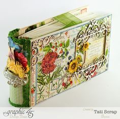 """How to make a """"Save the Date"""" Calendar with Time to Flourish Graphic 45 collection! Graphic 45, Mini Albums, Mini Scrapbook Albums, Papel Scrapbook, Scrapbook Layouts, Altered Books, Altered Art, Album Book, Butterfly Cards"""