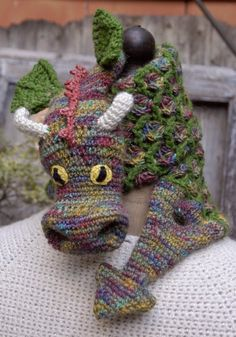 """From """"Crochet ever after"""", my dragon scarf"""