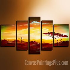 Original Acrylic Abstract Landscape Painting on Canvas by osbox, $365.00