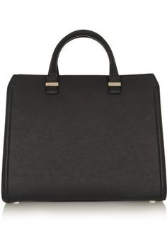 Such a classic :~ The Victoria matte-leather tote #accessories #women #covetme #victoriabeckham