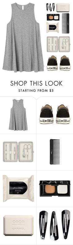 """""""Summer Casual"""" by amazing-abby ❤ liked on Polyvore featuring RVCA, Converse, John Lewis, Sephora Collection, H&M, NARS Cosmetics, Chanel and NLY Accessories"""