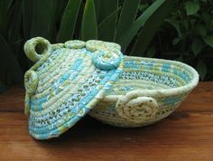 Seafoam Basket  TREASURY ITEM by lickcreekcollections on Etsy.