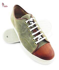 Zerimar Chaussures de sport en cuir de haute qualité Semelle en caoutchouc  Confortable et léger Couleur