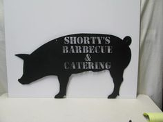 Hog Pig Silhouette Custom Metal Sign Farm Wall by cabinhollow, $139.99