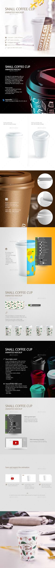 Small Coffee Cup Animated #Mockup - Food and Drink #Packaging