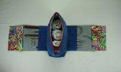 Utensilos & Stoffkörbchen - *Stricktasche to go Handarbeitstasche Häkeltasche* - ein Designerstück von Kaepseles bei DaWanda