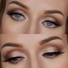 Check out these amazing wedding makeup looks! Check out these amazing wedding makeup looks! Wedding Makeup For Blue Eyes, Wedding Eye Makeup, Makeup Looks For Green Eyes, Wedding Makeup For Brunettes, Natural Wedding Makeup, Natural Eye Makeup, Blue Eye Makeup, Natural Lashes, Hair Wedding