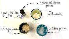 ingrédients recette diy dentifrice maison bicarbonate