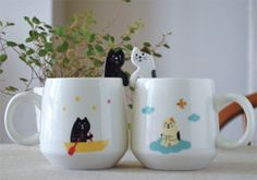 Decole Concombre Cat Mug and Spoon Set, Calico Cat Lover Gifts, Cat Gifts, Cat Lovers, Crazy Cat Lady, Crazy Cats, Animal Pajamas, Japanese Gifts, Ceramic Spoons, Cute Cups