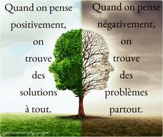 Pensées positives valent mieux que panser ses plaies ... Positive And Negative, Positive Attitude, Positive Thoughts, Positive Quotes, Because He Lives, Motivational Phrases, French Quotes, Old Soul, Positive Affirmations