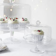 Mini Lidded Cake Stand   The White Company. Shopping from the US? -> http://us.thewhitecompany.com/Home-%26-Bath/Glassware/Mini-Lidded-Cake-Stand/p/GLHMC?swatch=Clear
