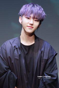 Hoshi with purple hair 💜💜 Jeonghan, The8, Vernon Chwe, Cuerpo Sexy, Hip Hop, Choi Hansol, Won Woo, Hoshi Seventeen, Adore U