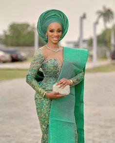 Nigerian Bride, Nigerian Weddings, African Weddings, African Wedding Attire, African Attire, African Beauty, African Fashion, Fashion Women, Lace Weddings