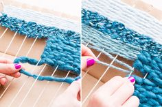 Use this tutorial to create your own loom and woven wall art.