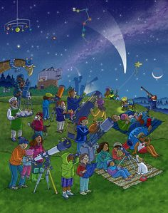 Stargazing Whats Wrong? Wimmelbild Created for Highlights Magazine Copyright © Highlights Press Speech Language Therapy, Speech And Language, Speech Therapy, Picture Comprehension, Reading Comprehension Worksheets, Writing Pictures, Picture Writing Prompts, Sequencing Pictures, Drawing Competition