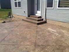 These are a set of rectangular steps that were put in in Northwest Ohio.