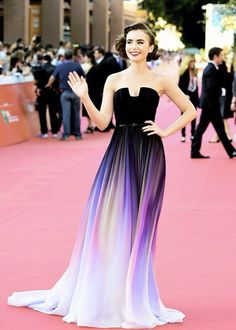 Cheap prom dresses petite women, Buy Quality prom dress long sleeve directly from China prom dresses for small breasts Suppliers: 2015 Lily Collins Vestidos New Gradient Change Strapless Ombre Chiffon Prom Dress