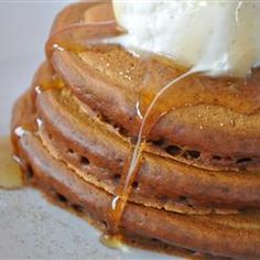 Grandma's Gingerbread Pancakes Allrecipes.com. Try serving with cream cheese frosting in between the pancakes.