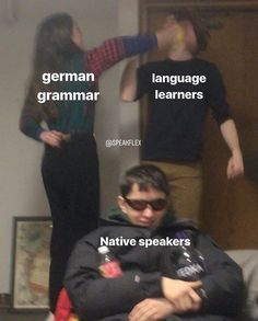 Funny Video Memes, Funny Jokes, Hilarious, Funny Images, Funny Pictures, Best Memes Ever, Funny Relatable Quotes, Learn German, German Language