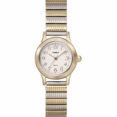 Timex Women's T2H611 Classic Two-Tone Expansion Stainless Steel Bracelet Watch Timex. $54.95. Case diameter measures 23 mm. Water-resistant to 99 feet (30 M). Strong mineral crystal protects dial from scratches and scrapes. Stainless-steel case; White dial. Quartz movement