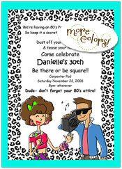 80's party invites!!