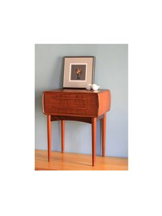 Danish Modern Nightstand  Bedside Table  by TheArbitrarium on Etsy, $575,00