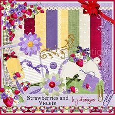 Strawberries and Violets :: Page Kits :: Digital Scrapbooking :: Aimee Asher Boutique