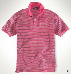 Gray and Pink men's polo shirt