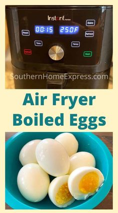 Air fryer boiled eggs are super easy to make, and they come out the same every time. You can make them soft, medium, or hard boiled to suit your personal preference. #airfryereggs #boiledeggs #howtoboileggs