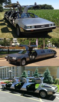 A Limo Made From Three Deloreans...HOLY FUCKING AWESOME SAUCE