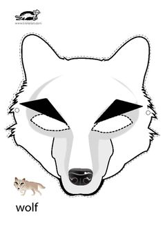 Free Printable Wolf Mask Template | Wolf mask, Mask template and ...