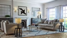 Classic contemporary first floor living room