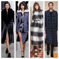 Plaids are a big #trend for #fall 2016 - Here are some #runway inspirational looks   .  .  #fashion #style #plaid #chic #musthave #love