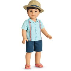 Find new 18 inch doll clothes, 15 inch doll clothes, and cute outfits for girls perfect for every occasion at the official American Girl site. American Girl Outlet, All American Boy, Boys Summer Outfits, Cute Girl Outfits, 18 Inch Boy Doll, American Girl Crochet, Boy Doll Clothes, New Dolls, Girl Dolls