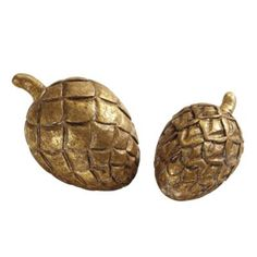 Gilt Pinecones - Set of 2 19