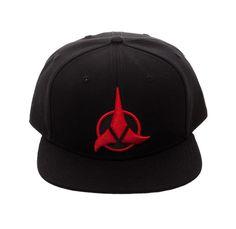 official photos 24068 832a3 Get this Bioworld Licensed Star Trek - Klingon - Acrylic Black Snapback Hat!  Go get