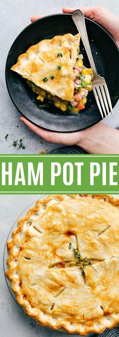 The best ever delicious ham pot pie via chelseasmessyapron.com #ham #pot #pie #veggies #easy #quick #dinner #kidfriendly #potato #vegetables